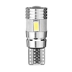 billige Interiørlamper til bil-2pcs T10 / W5W Bil Elpærer 2.5 W SMD 5630 30 lm 6 LED Tåkelys / Lisensplatelampe / interiør Lights Til GM Alle år