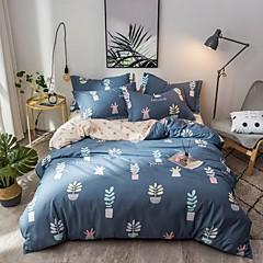 billige Hjemmetekstiler-Sengesett Moderne Polyester Reaktivt Trykk 4 delerBedding Sets