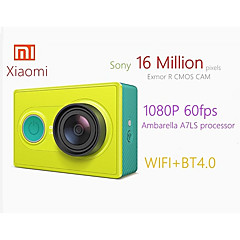 cheap -Xiaomi Yi YDXJ01XY 16 mp 1920 x 1080 Pixel Remote-Controlled / Easy to Carry / Small Size 60fps No No Screen(output by APP) 16.0MP CMOS 128 GB H.264 / MPEG-4 English / Simplified Chinese