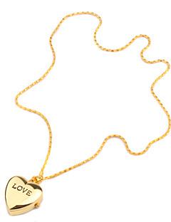 Damen Modeuhr Halskettenuhr Uhr mit Schlüsselanhänger Quartz Band Heart Shape Gold