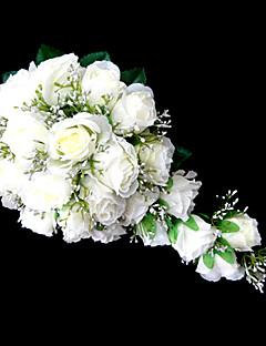 preiswerte Zubehör Ausverkauf-Hochzeitsblumen Wasserfall Lilien Sträuße Hochzeit Partei / Abend Satin Rosa Weiß Orange