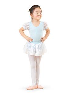 tanie Stroje baletowe-Dziecięca odzież do tańca / Balet Sukienki Szkolenie Bawełna Koronka Krótkie rękawy Wysoki