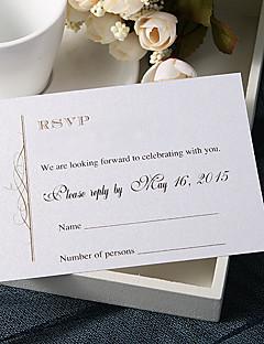 """Χαμηλού Κόστους Κάρτες Απόκρισης-Εξατομικευόμενο Επίπεδη Κάρτα Προσκλητηρια Γαμου Κάρτες Απόκρισης-20 Τεμάχια/Σετ Κλασσικό στυλ Χαρτί Περλέ 3 ½"""" x 5"""" (9εκ*12,5εκ)"""