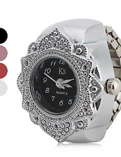 billige Blomster-ure-Dame Ringur Japansk Afslappet Ur Rustfrit stål Bånd Blomst / Mode Sølv