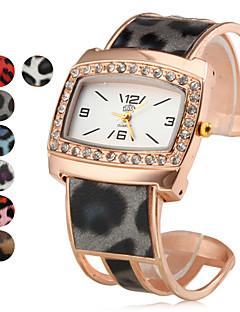 女性用 ファッションウォッチ ブレスレットウォッチ クォーツ 合金 バンド 光沢タイプ つや消しブラック Elegant ブラック 白 ブルー レッド ゴールド ピンク パープル