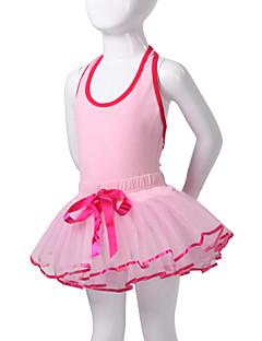 tanie Dziecięca odzież do tańca-Dziecięca odzież do tańca / Balet Sukienki / Tutu Spektakl Bawełna / Spandeks Bez rękawów