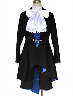 cheap Anime Costumes-Inspired by Black Butler Ciel Phantomhive Anime Cosplay Costumes Cosplay Suits Solid Long Sleeves Cravat Coat Vest Shirt Shorts For Men's