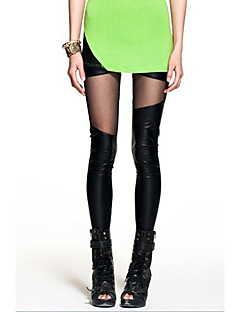 tanie Getry-Damskie Poliwęglan Legging - Solid Color Średni Talia