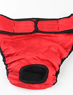 billiga Hundkläder-Hund Byxor Hundkläder Enfärgad Svart Röd Cotton Kostym För husdjur Herr Dam Ledigt/vardag