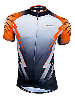 お買い得  サイクリングジャージ-Nuckily 男性用 半袖 サイクリングジャージー バイク ジャージー, 速乾性, 高通気性, モイスチャーコントロール