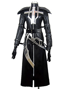 Inspirert av Lamento-BEYOND THE VOID Ricus video Spill Cosplay Kostumer Cosplay Suits Lapper Svart Langt ErmeKappe / Sjal / Hansker /
