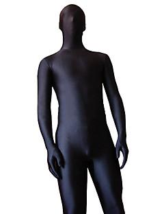 levne -Zentai kombinézy Morf Ninja Zentai Cosplay kostýmy Černá Jednobarevné Leotard/Kostýmový overal Zentai Lycra a elastan Unisex Halloween