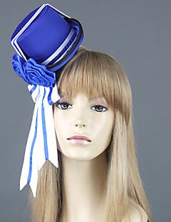 billige Anime Cosplay Tilbehør-Hatt/Lue Inspirert av Svart Tjener Ciel Phantomhive Anime Cosplay-tilbehør Hatt CAP konstruktion Uniform Klær Herre