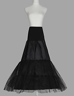 billiga Brudklänningsunderkjol-Bröllop Speciellt Tillfälle Underklänningar Organza Taft Tyll Golvlång A-linjeformad Underkjol/klänning med