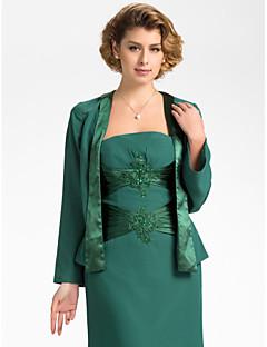 cheap Wedding Wraps-Long Sleeves Chiffon Wedding Party Evening Wedding  Wraps Coats / Jackets