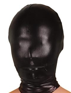 זול זנטאי (חליפות גוף)-מסכה Ninja Zentai תחפושות קוספליי שחור אחיד מסכה מתכתי מבריק בגדי ריקוד גברים בגדי ריקוד נשים האלווין (ליל כל הקדושים)