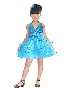 cheap Ballet Dance Wear-Ballet Dresses Children's Tulle Sequins High Elegant Classical Dress