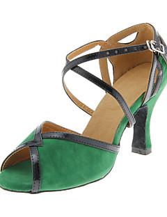 Özelleştirilmiş Kadın Suede Üst Dans Ayakkabıları
