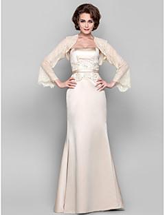 levne -Plášť / sloupek bez ramínek podlahová délka tylová úsek saténová matka nevěsty šaty lan ting bride®