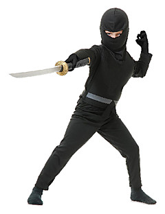 cheap Kids Halloween Costumes-Ninja Cosplay Costume Party Costume Kid's Halloween Carnival New Year Children's Day Festival / Holiday Halloween Costumes Solid Colored