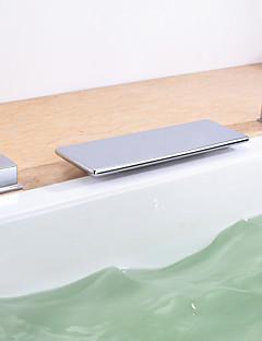 billige Romersk- bad-Badekarskran - Moderne Krom Romersk kar Keramisk Ventil / To Håndtak tre hull