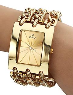 Heren Dress horloge Kwarts Japanse quartz Band Luxueus Goud Goud Wit