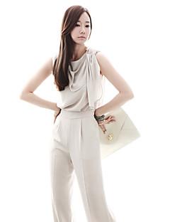Χαμηλού Κόστους Γυναικεία Παντελόνια & Φούστες-Solid Color Κομψό Pleats Γυναικών Ruffle Φόρμες