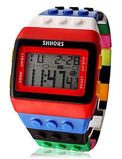 女性用 ファッションウォッチ 腕時計 ウッド デジタルウォッチ デジタル LCD カレンダー クロノグラフ付き アラーム Plastic バンド キャンディ クール 多色