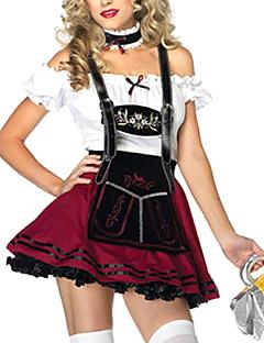 Oktoberfest Servitør/servitrise karriere Kostymer Cosplay Kostumer Party-kostyme Kvinnelig Oktoberfest Festival/høytid Halloween-kostymer
