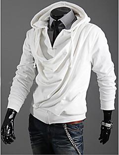 ieftine Îmbrăcăminte Bărbați de Exterior-Bărbați Mată Zilnic Hanorac cu Glugă Manșon Lung Bumbac