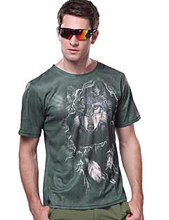 baratos Camisetas para Trilhas-Homens Camiseta de Trilha Ao ar livre Secagem Rápida Resistente Raios Ultravioleta Respirável Camiseta Blusas Acampar e Caminhar Pesca