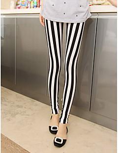 Women's Black-white Stripe Leggings