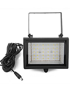 billige Solcelle & LED-Belysning-30-LED Solar Power Ultra Bright Hage Flood Spot Light Lawn Cool Hvit Lampe