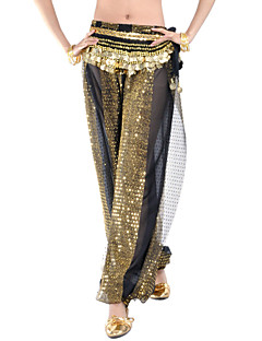 cheap Belly Dance Wear-Belly Dance Bottoms Women's Performance Chiffon Sequin Pants