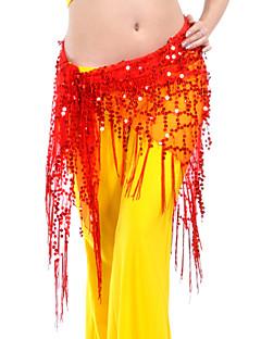 Dança do Ventre Cinto Mulheres Treino Poliéster 1 Peça Xale de Dança do Ventre