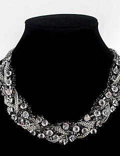 Χαμηλού Κόστους Hualuo®-Γυναικεία Κολιέ Τσόκερ - Στρας Κολιέ Κοσμήματα Για Πάρτι