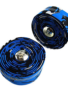 1 Paar Fixed Gear Rennrad / Fahrrad Blau + Schwarz Lenker Strap