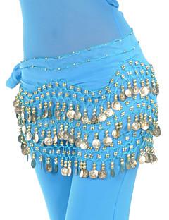 ベリーダンス ベルト 女性用 訓練 シフォン ビーズ 1個 ヒップスカーフとベルトは含まれていません.
