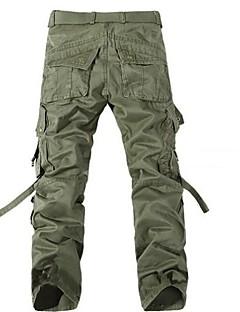 hesapli Erkek Pantolonlar-Erkek Basit Kargo Chinos Pantolon Solid