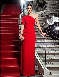 billiga Kändisklänningar-Åtsmitande Enaxlad Golvlång Jersey Formell kväll / Smokinggala Klänning med Sidodraperad av TS Couture®