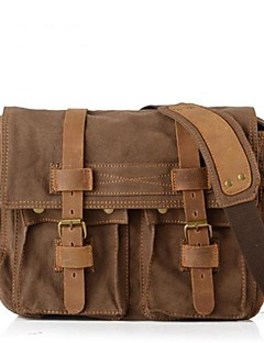 cheap -Unisex Bags Other Leather Type / Canvas Satchel for Casual Brown / Green / Khaki