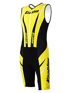 Kooplus Costum Pentru femei Pentru bărbați Unisex Fără mâneci Bicicletă combinezoane Set de ÎmbrăcăminteUscare rapidă Permeabilitate la