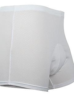 tanie Bielizna i odzież termoaktywna-Księżyc Męskie Bokserki rowerowe - Biały Rower Szorty / Bielizna Spodenki / Spodenki snowboardowe, Szybkie wysychanie Solidne kolory