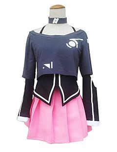 """billige Videospill cosplay-Inspirert av Vokaloid IA video Spill  """"Cosplay-kostymer"""" Cosplay Klær / Kjoler Langermet Frakk / Skjørte / Krage Halloween-kostymer"""