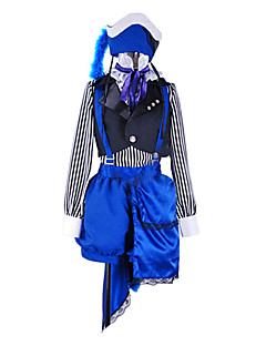 """billige Anime Kostymer-Inspirert av Svart Tjener Ciel Phantomhive Anime  """"Cosplay-kostymer"""" Cosplay Klær Lapper Vest / Genser / Bukser Til Herre Halloween-kostymer"""