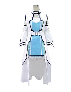 """billige Anime Kostymer-Inspirert av Sword Art Online Asuna Yuuki Anime  """"Cosplay-kostymer"""" Cosplay Klær Lapper Vest Kjole Ermer Midje Tilbehør Til Dame"""