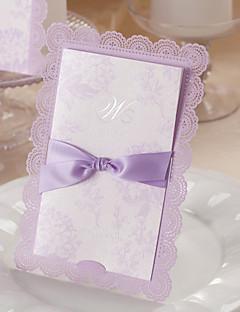 """preiswerte Spezial Angebote-Hülle & Taschenformat Hochzeits-Einladungen Einladungskarten Geblühmter Style Kunstpapier 7 1/5""""×5"""" (18.4*12.8cm) Schleifen"""