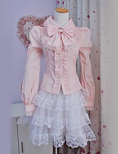 זול אופנת לוליטה-לוליטה מתוקה נסיכות בגדי ריקוד נשים חולצה Cosplay שרוול ארוך לוליטה