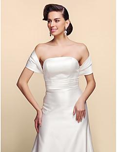 Short Sleeves Satin Wedding Party Evening Wedding  Wraps Shrugs