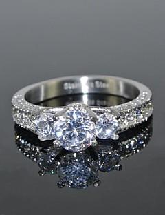 Kadın's imitasyon Pırlanta Aşk lüks mücevher Gelin kostüm takısı Paslanmaz Çelik Zirkon Kübik Zirconia Round Shape Crown Shape Mücevher